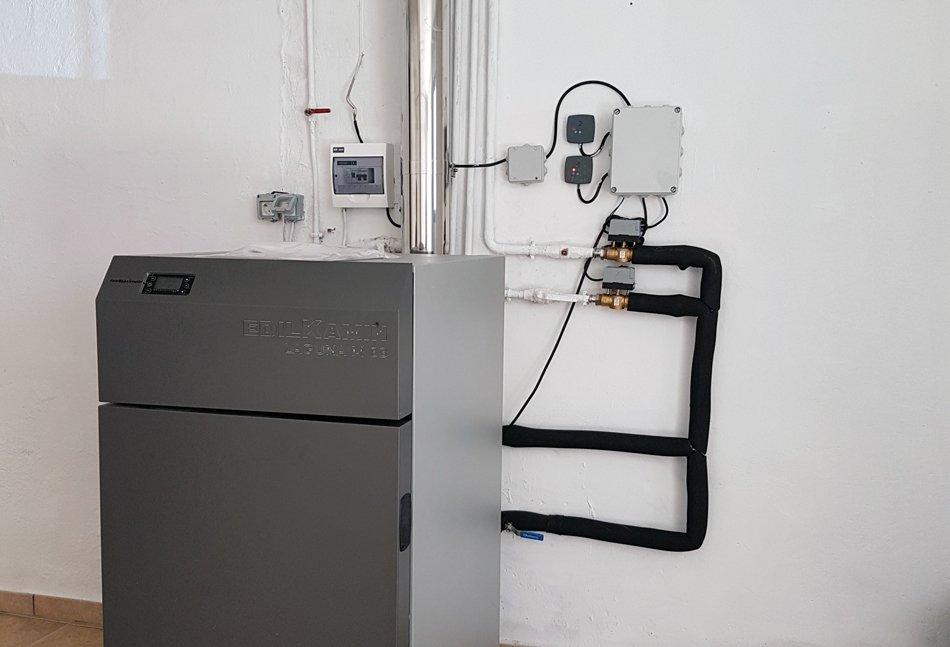 Instalación caldera de BIOMASA POLICOMBUSTIBLE